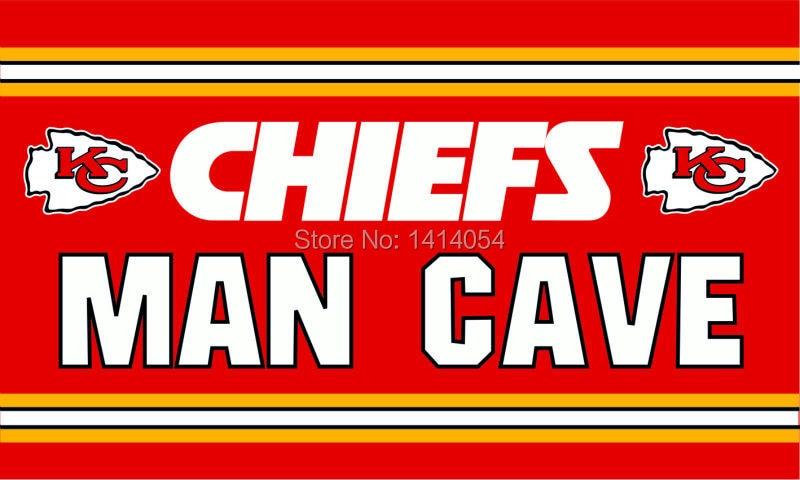 Man Cave Decor Store Kansas City : Kansas city chiefs man cave logo flag cm banner d