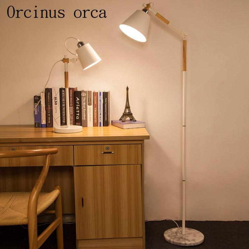 Die Studie Von Massivholz Stehleuchte Kreative Einfache Wohnzimmer