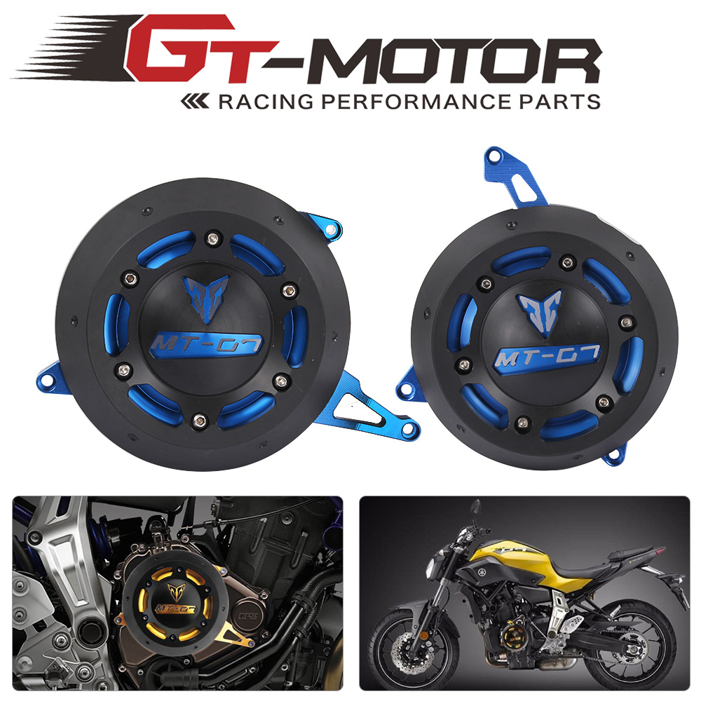 GT Motor-free shipping For YAMAHA MT-07 MT07 FZ-07 FZ07  Engine Stator side Case Cover Engine  Cover Protector for yamaha mt 07 mt 07 fz07 mt07 2014 2015 2016 accessories coolant recovery tank shielding cover high quality cnc aluminum
