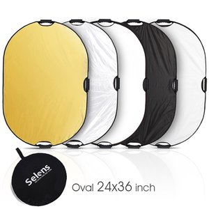 Image 5 - 60x90cm 24x35 5 in 1 Multi Disc Photography Studio Photo Oval Collapsible Light Reflector handhold portable photo disc