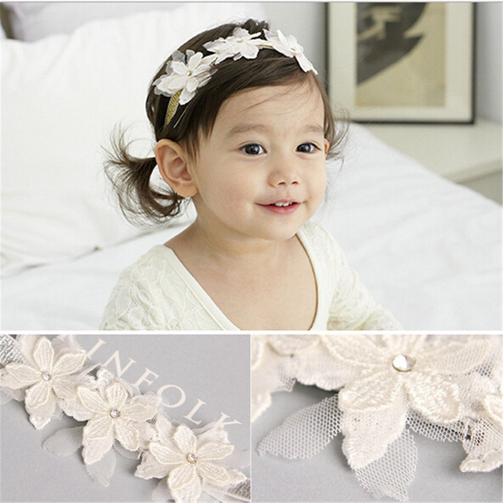 Hot Sale Baby Girls Floral Print Cross Hairband Let Our Commodities Go To The World Hair Accessories