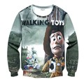 2017 Harajuku Sweatshirt The walking Toys 3D Print Hoodies Men/Women Casual Funny Cartoon Buzz Lightyear pullover Large size 4XL