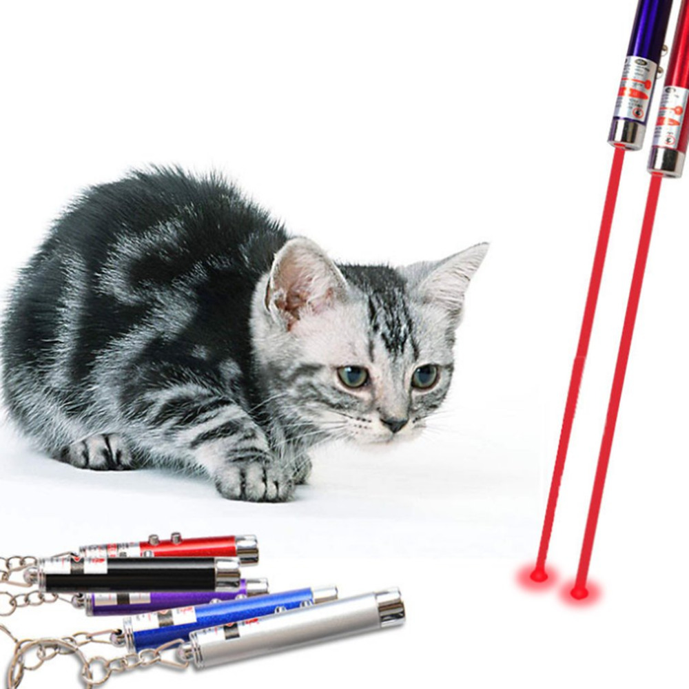 Portable Creative and Funny Pet Cat Toys LED Laser Pointer light Pen With Bright Animation Mouse Shadow New