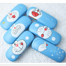 LIUSVENTINA Hot Sale High Quality Cute Cartoon Doraemon Expression Frame Glasses Box Sunglasses Case Gift for Girls and Friends(China)