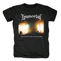 Bloodhoof Free shipping IMMORTAL Damned In Black Black Metal BRAND cotton new T SHIRT Asian Size