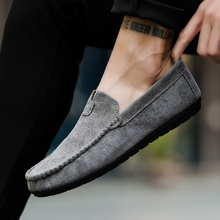 England Men's Casual Shoes Suede Driving Shoes Loafers Spring/Autumn New Fashion Low-top Simple Breathable Man Shoes Slip-On suede low top slip on sneakers