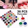 36 Pots Pure Color Decor UV Gel Nail Polish Excellent Nail Gel Manicure Profession Gel Varnishes Makeup Tools