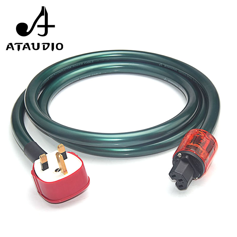 ATAUDIO Hifi Power Cable with Gold plated UK Plug UK Connection Power Cable for power filter