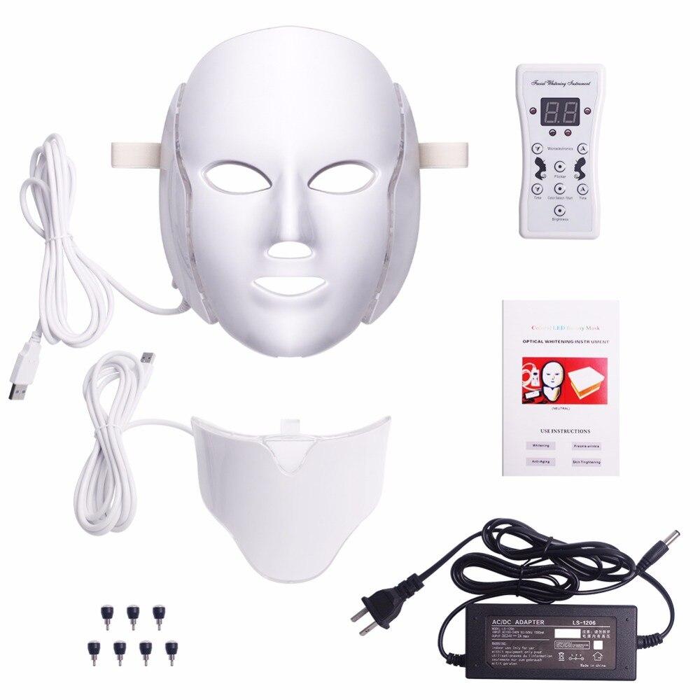 Foreverlily led masque facial Thérapie 7 Couleurs Visage machine à masques Photon lumière thérapeutique Soins de La Peau Rides traitement de l'acné Visage Beauté - 2
