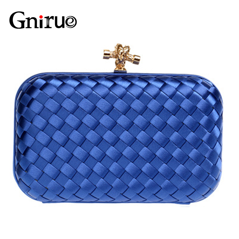 New Luxury Handbags Women Bags Designer Solid Color Knitting High Quality Shoulder Bags Evening Wedding Party Clutch Purses