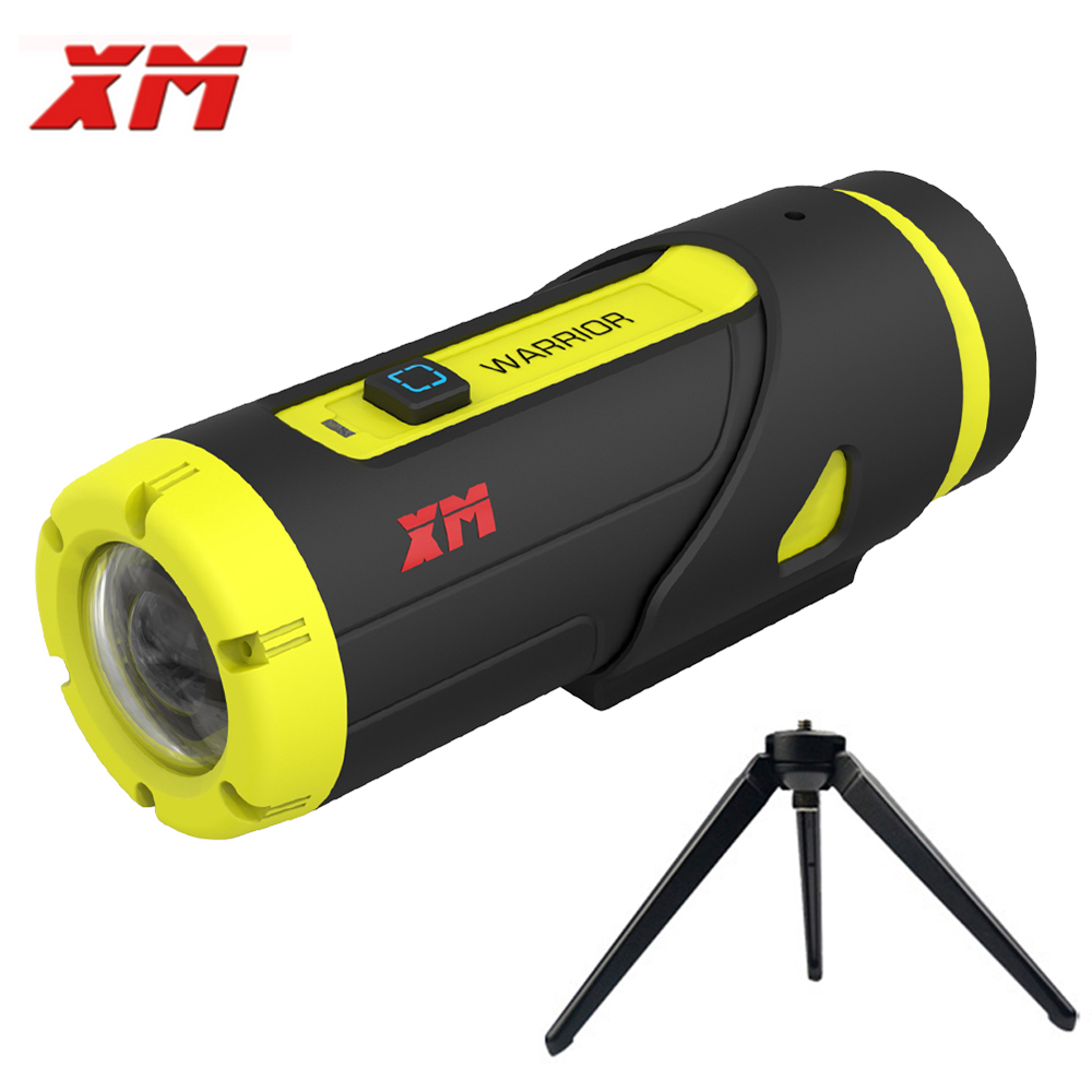XM H.265 1080P Full HD Спорт действий Камера 16 ГБ карты 3400 Батарея Wi Fi видео Mini DV камера с защитой от влаги Регистраторы со штативом