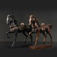 1 шт. лошадь украшения Бизнес подарки лошадь ремесел Гостиная Кабинет офисная модель номер и украшения LU618510