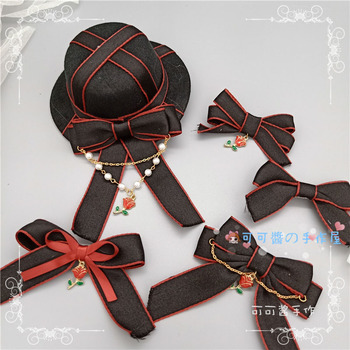Gothic lolita diablo hair hat lolita headdress hairpin England make dead cla girl accessories