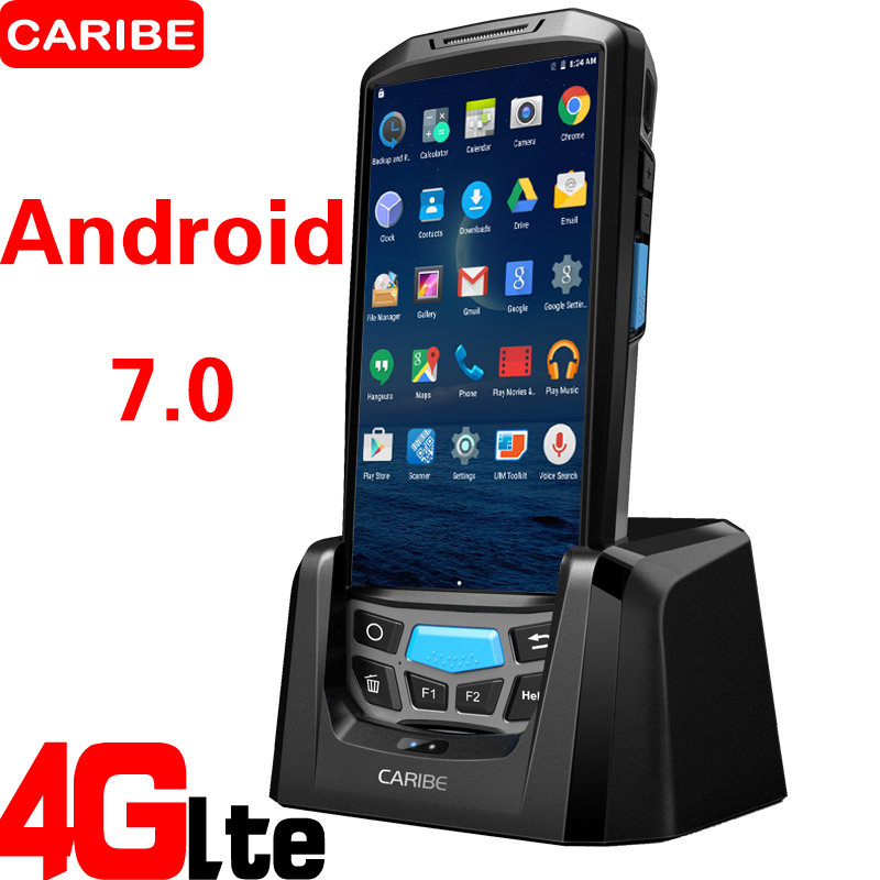 caribe pl 50l wifi blue tooth 4g acidentada android pos barcode scanner movel pda com impressora
