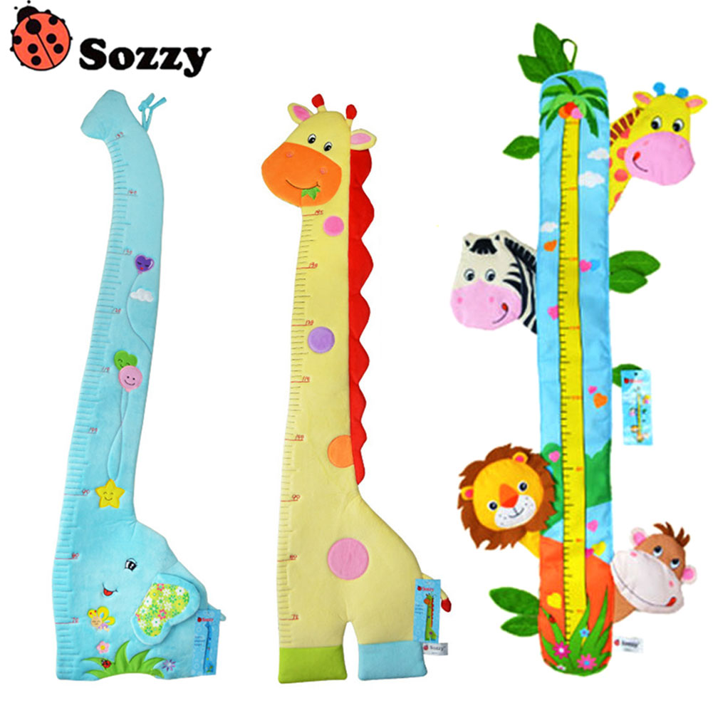 1.4M Multifunction Children Height Scale Soft Cute Animal Ruler Placate Bed Bumper Baby Newborn Infant Appease Toys BM8