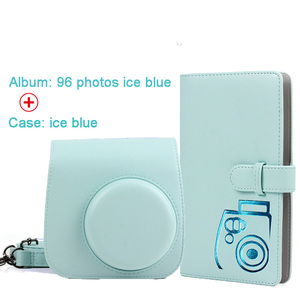 Image 2 - Protective Case Waterproof PU Leather Bag with Shoulder Strap+96 Pockets Photo Album for Fuji Fujifilm Instax Mini 9/8/7s Camera
