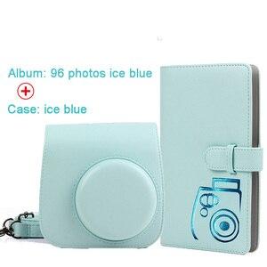 Image 2 - 保護ケース防水puレザーバッグショルダーストラップ + 96 ポケットフォトアルバムフジフイルムインスタックスミニ 9/8/7sカメラ