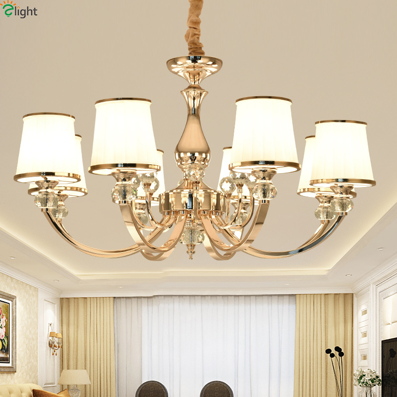 цены Modern Lustre Crystal Living Room Led Chandeliers Gold/Chrome Metal Dining Room Led Pendant Chandelier Lighting Hanging Lights