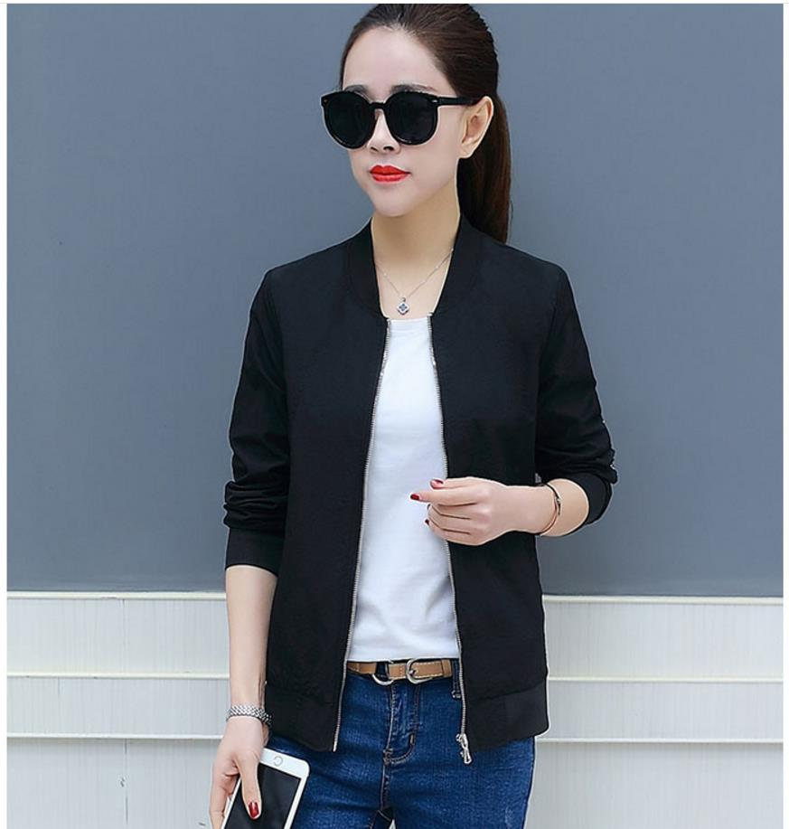 new Korean   basic     jacket   coat students wild spring and autumn Slim female   jacket   thin section coat 4020187