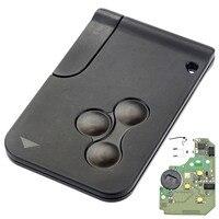 3ボタン433 mhzスマートキーfobシェルケースカード用ルノーメガーヌでpcf7947チップ1ピースリモート車のキー