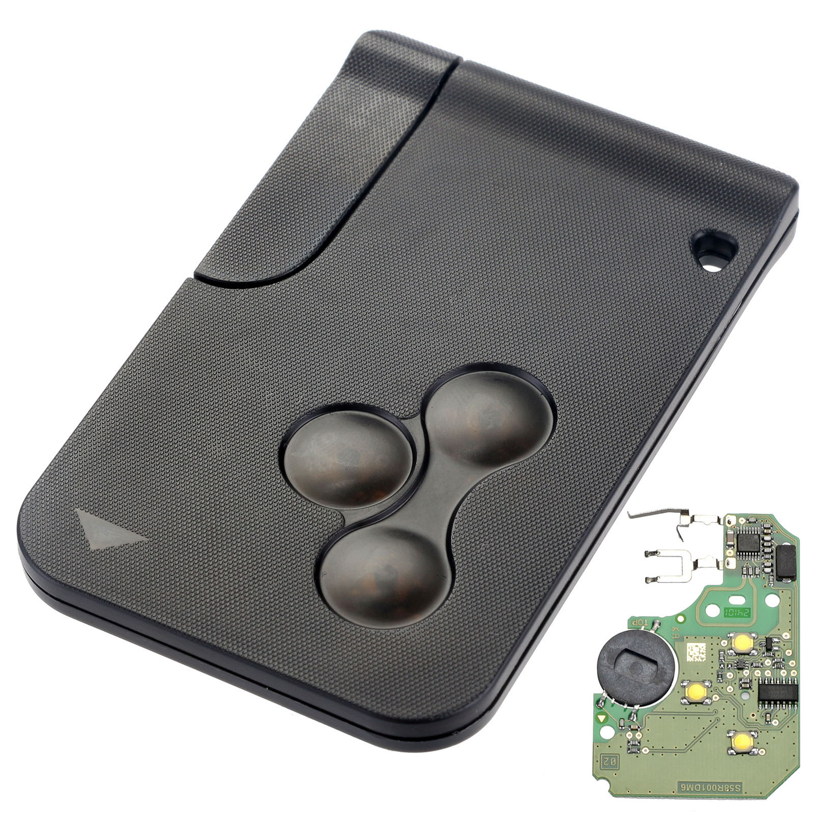 3 Buttons 433MHZ Smart <font><b>Key</b></font> Fob Shell Case Card For Renault Megane With PCF7947 Chip 1pc Remote Car <font><b>Key</b></font> Free Shipping D25