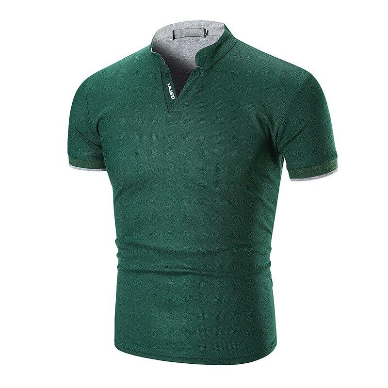 2018 Hot Sale New Fashion Brand Men   Polo   shirt Solid Color Short-Sleeve Slim Fit Shirt Men Cotton   polo   Shirts Casual Shirts 5XL
