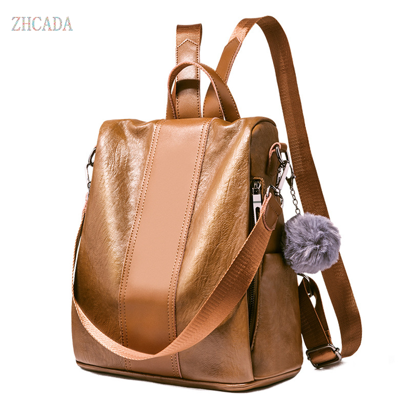 Women Travel Backpack Quality Pu Leather School Backpacks for Girls Casual Large Capacity Female Back Pack