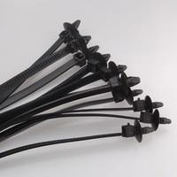 Alta calidad 100 unids/lote 112x2,5mm negro auto bloqueo montaje a presión de alambre de nylon tornillo cable corbata de la corbata