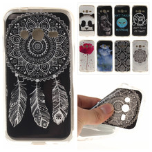 Silicone Phone Case for Samsung Galaxy Ace 4 Neo G318H Duos Lite G313 G313H Cases Vintage Tribe Floral Panda Soft TPU Back Cover