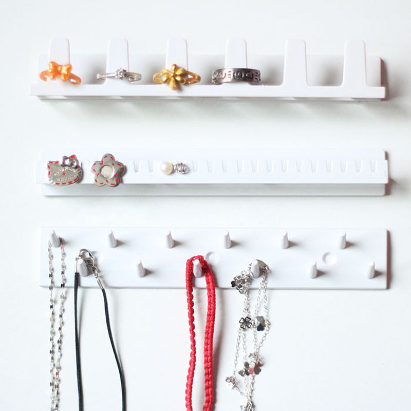 9Pcs/set Adhesive Jewelry Hooks Wall Mount Storage Holder Organizer Display Stand