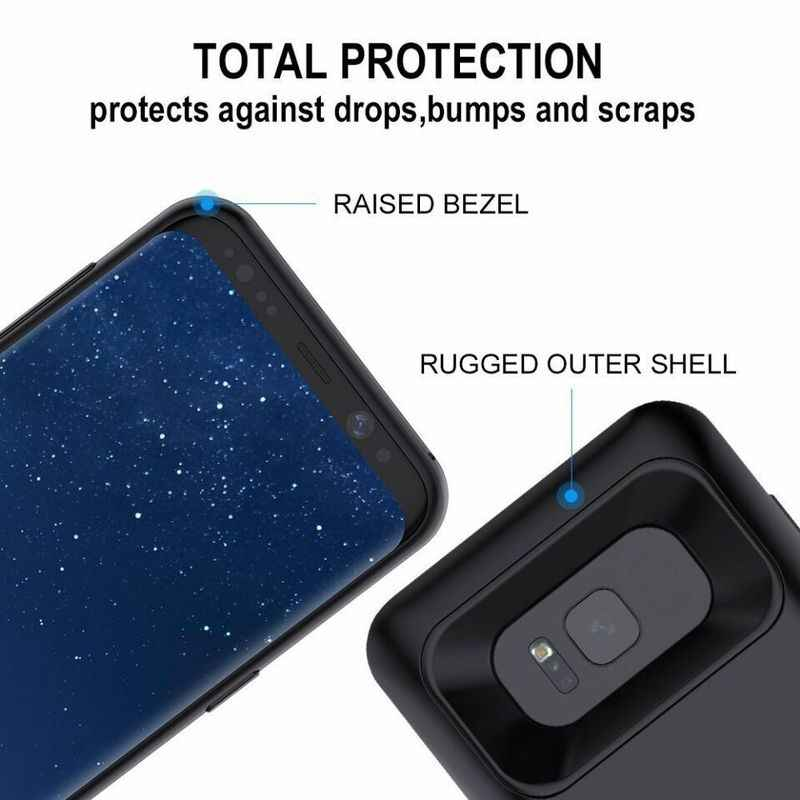 NENG נייד מטען סוללה מקרה נטענת מורחב חדש גיבוי חבילת כוח בנק כיסוי לסמסונג גלקסי S8 S9 בתוספת הערה 8 9