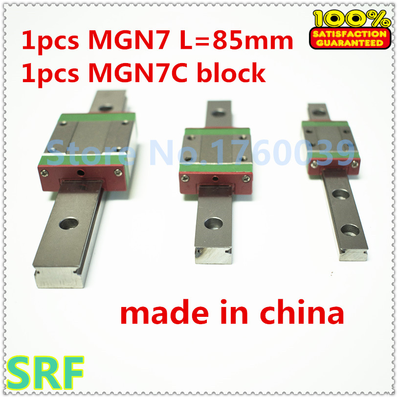 1pcs RM7 7mm Miniature linear guide way MGN7 L=85mm  with 1pcs MGN7C Slide Block Carriage  for CNC parts sgs 220 degree professional hot melt glue gun 60w 100w double power fit 11 mm stick temperature repair tool glue gun hm8061t