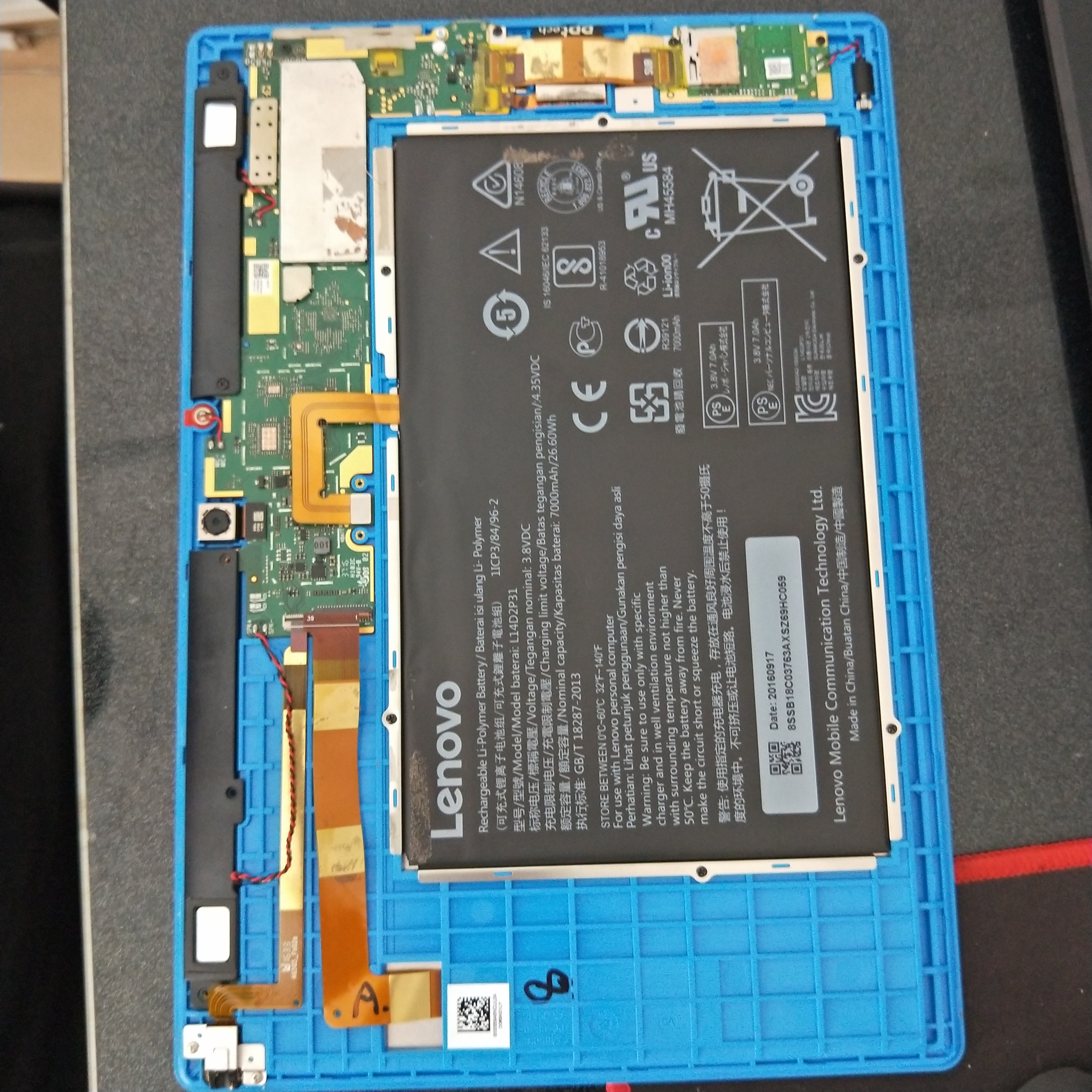 Used Bad Motherboard LCD Display Battery Back Shell For Lenovo Tab 3 10 Plus TB-X103F TB-X103 TB X103F TB X103