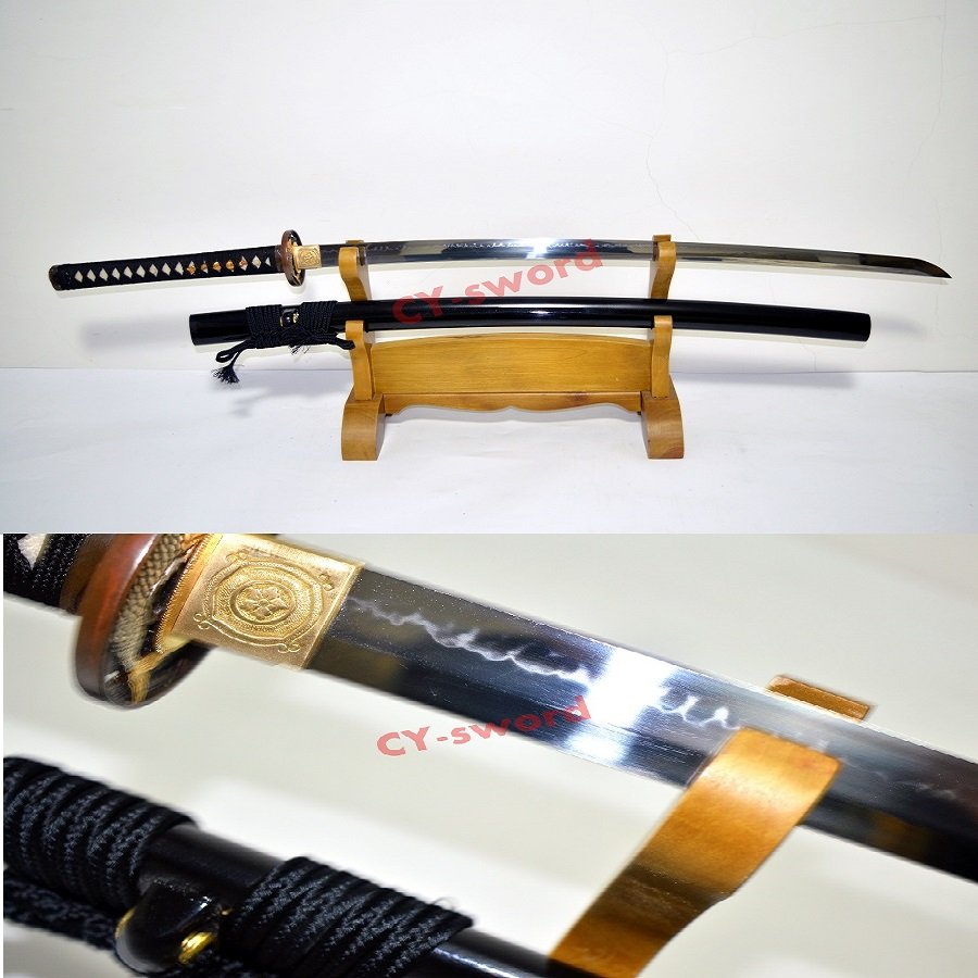 HIGH QUALITY BATTLE READY SHINOGI-ZUKURI CLAY TEMPERED T-10 STEEL CHOJI HAMON SWORD JAPANESE SAMURAI KATANA