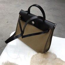 Classic fashion customized Soft Canvas and cowhide Luxury Handbags Women Bags Designer Shoulder Bag Brown Hasp Lock Messen