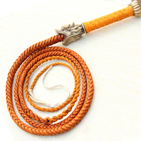 Dragon Handle Horse Whip flogger Hand Made Halter Braided Riding Racing Genuine Cowhide Leather Equestrian Equipmen T $