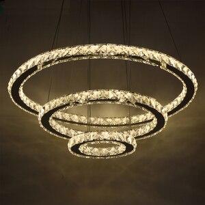 Image 1 - الحديثة LED كريستال الثريا أضواء مصباح لغرفة المعيشة كريستال بريق الثريات قلادة الإضاءة تركيبات سقف معلق