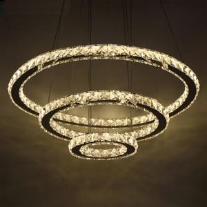 Image 1 - Modern LED kristal Avize Işıkları Lamba Oturma Odası Cristal Cilası Avizeler Aydınlatma Kolye tavanda asılı Için Fikstür
