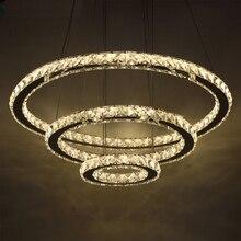 Plafonnier suspendu en Cristal, luminaire décoratif de plafond, idéal pour un salon, modèle Cristal LED moderne