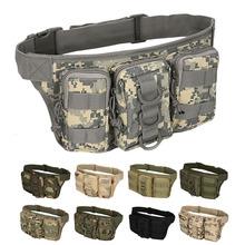 Na świeżym powietrzu torba taktyczna Utility taktyczna torba na pas etui Camping wojskowy torba turystyczna plecak z paskiem tanie tanio NoEnName_Null CN (pochodzenie) 831C6A51148 Mutiple Pockects Rama zewnętrzna NYLON tactical bag bags