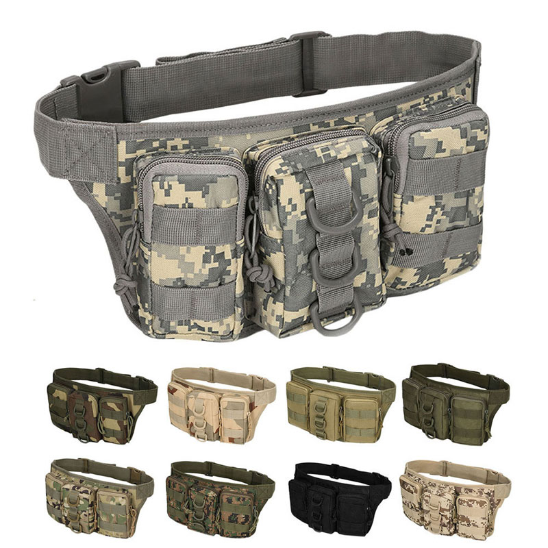 Outdoor Tactical Bag Utility Tactical Waist Pack Pouch Military Camping Hiking Bag Belt Backpack outdoor camping hiking waist bag military tactical trekking waist pack bag camo pouch