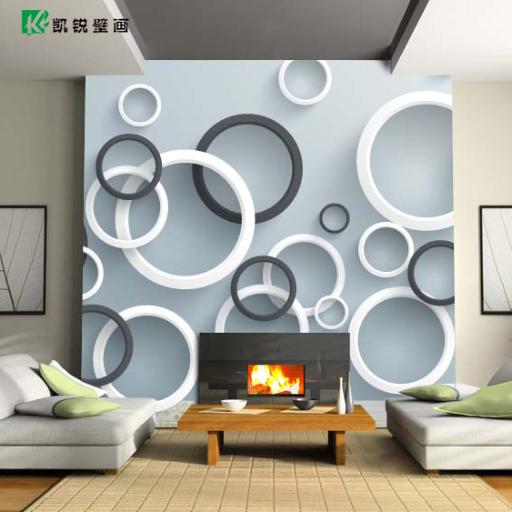 Custom 3D stereoscopic white grey circle large mural bedroom living room TV sofa backdrop wallpaper non-woven fabric wall paper 3d room wallpaper custom mural non woven sticker mural old man tv sofa bedroom ktv hotel living room children room