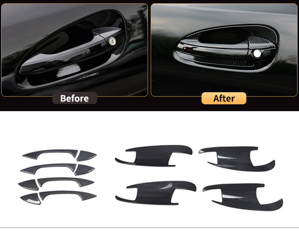 Outer Door Bowl Handle Protective Stickers Cover Trim For Mercedes Benz GLE W166 ML350 350d GL320 450 GLS X166  Accessories