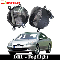 Cawanerl Car LED Bulb Fog Light Daytime Running Lamp DRL White 12V Styling For Peugeot 607 (9D, 9U) Saloon 2000 2006