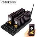 RETEKESS T111 localizadores de restaurante 20 llamadas inalámbricas Sistema de colas de llamada de invitados botón de llamada de camarero equipo de Catering F9401