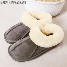 Chinelos de pele de carneiro das mulheres em casa sliders macios inverno de pelúcia peludo quente apartamentos doces senhoras sapatos pantufas casa mulher sapatos c324