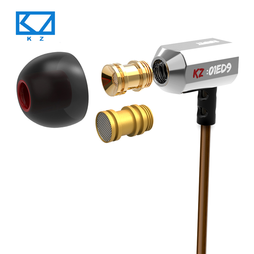 Hot KZ ED9 Super Bowl Tuning Nozzles Earphones In-Ear Monitors HiFi Noise Cancelling Earphone With Microphone Transparent Sound