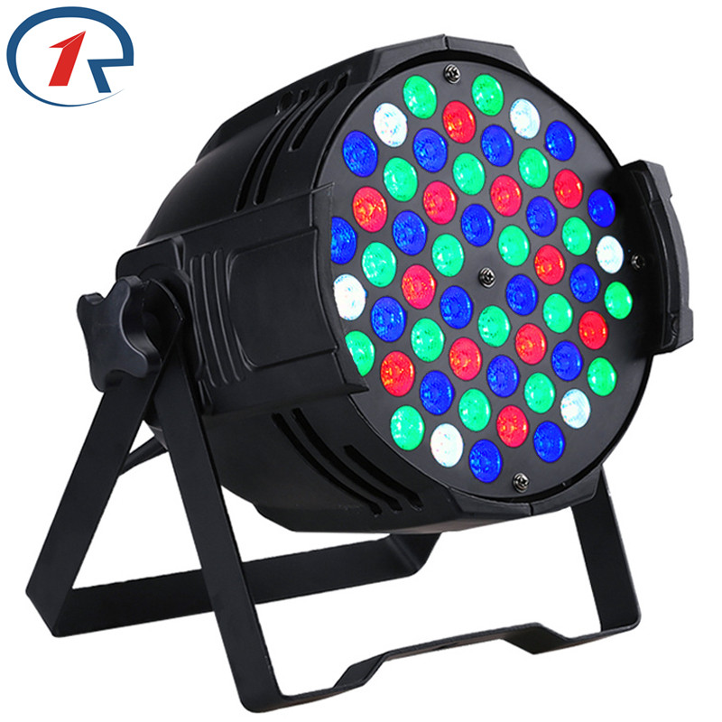 ZjRight 30W Red Green Blue White 54 LED Par light Sound control DMX512 stage Light for Music concert effect light bar dj light sb331 cool skull head style 2 led red light keychain w sound effect white black 2 x ag10