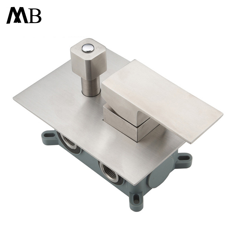 304 Stainless Steel Shower Faucets Concealed Mounted Bathroom Shower Mixer Faucet 2/3 Ways Shower Valve Brushed Mixing Hot Cold steam sauna shower room stainless steel shower screen wear plate concealed installation stalls mixing valve