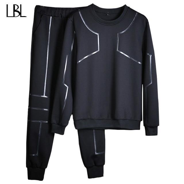 Pria Pakaian Olah Raga Set O-Leher Baju Olahraga Pria Sweatshirt Penuh  Lengan Panjang Celana da1b31ec7b